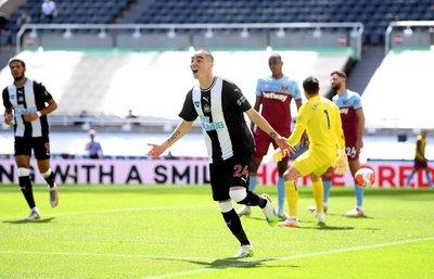 Miguel Almirón anota en el empate de Newcastle
