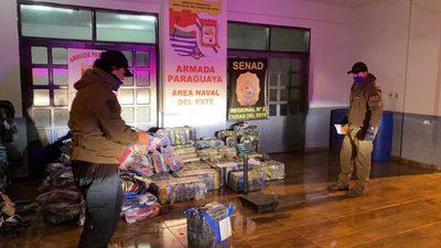 Incautan lancha con casi 650 kilos de marihuana a su paso entre CDE y Foz de Yguazú