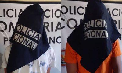 Dos menores detenidos tras robar motocicleta