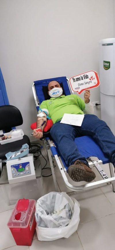 Realizaron jornada de donación de sangre