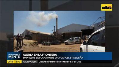 Alerta en la frontera: Más de 30 presos se fugaron de cárcel brasileña