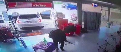 Hombres armados asaltan supermercado y se llevan G. 27 millones