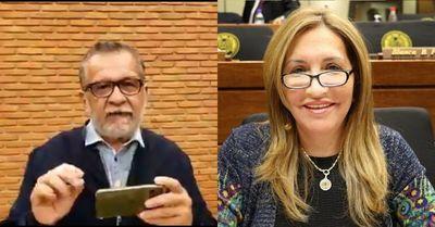 Picante cruce entre Zulma Gómez y Luis Alberto Wagner