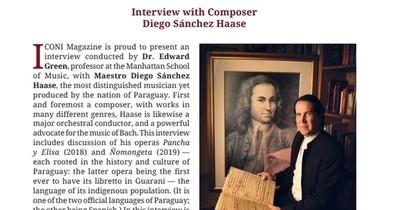 Revista científica rusa destaca al maestro Sánchez Haase