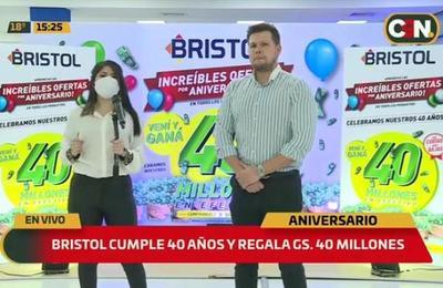 ¡Bristol cumple 40 años y lo festeja premiando a sus clientes!