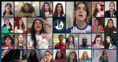 Alumnos de Arambé se destacan en coro virtual a nivel mundial