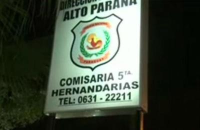 Detenido se fugó de Comisaría en Hernandarias