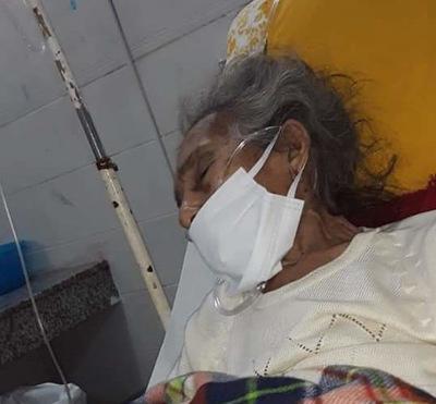 Anciana concepcionera esta hospitalizada y necesita de sus parientes