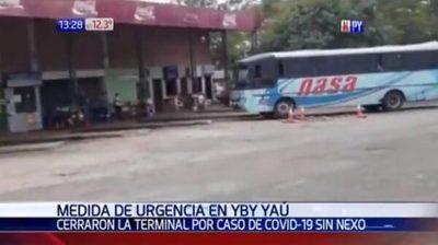 Cierran terminal de Yby Yaú tras detección de caso sin nexo