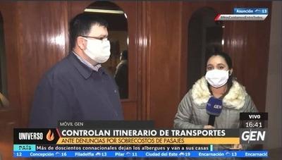 HOY / Controlan itinerario de transportes públicos, tras denuncias por sobrecosto de pasajes