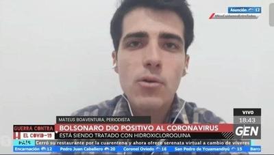 HOY / Jair Bolsonaro dio positivo al coronavirus y está siendo tratado con hidroxicloroquina