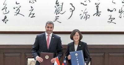 Presidenta de Taiwán agradece a Mario Abdo su gratitud