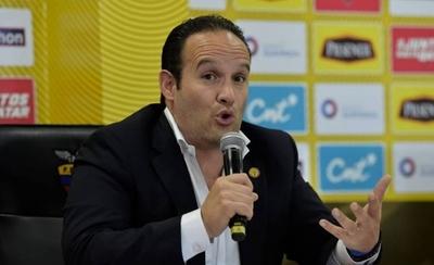 HOY / FIFA y CONMEBOL solo reconocen a Egas, el depuesto presidente de la Federación Ecuatoriana