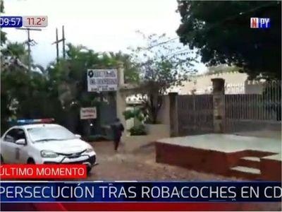 Persecución con balacera entre policías y delincuentes en CDE