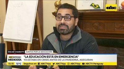 """""""La educación está en emergencia"""""""