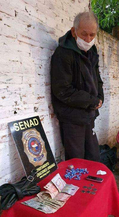 Detienen a un abuelo distribuidor de crack en Lambaré
