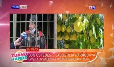 Procesado por robar pomelos rompe el silencio y pide libertad