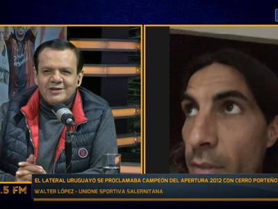 Walter López recuerda su paso por el fútbol paraguayo