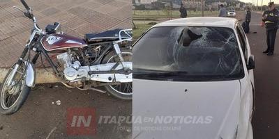 ACCIDENTE DE TRÁNSITO EN LA AVDA. JAPÓN DE ENCARNACIÓN.
