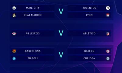 Definen emparejamientos de cuartos de final de la Champions League