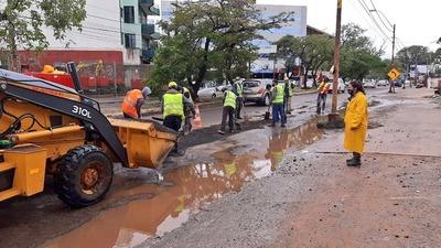 Essap repondrá asfalto en zona de obras de alcantarillado sanitario para Fernando de la Mora