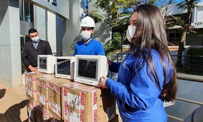 Entregan monitores para fortalecer Hospital Integrado Respiratorio Covid-19 del Alto Paraná