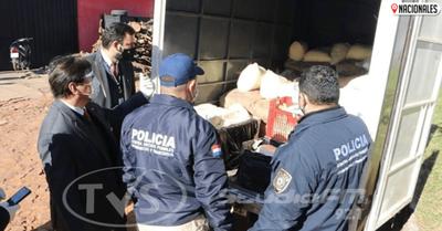Comitiva allana local e incauta mercaderías presumiblemente ingresadas de contrabando