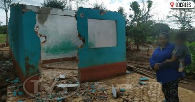 Tras un desalojo, una familia no puede volver a construir su casa y pide apoyo de la ciudadanía
