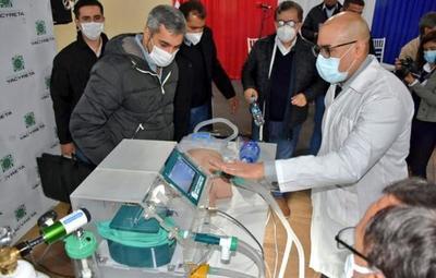 "Yacyreta presenta prototipo de ""respirador de emergencia"""