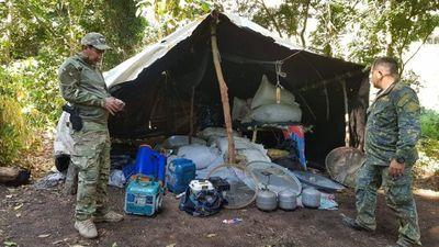 Intervienen establecimiento rural y anulan campamentos de producción narco en Amambay