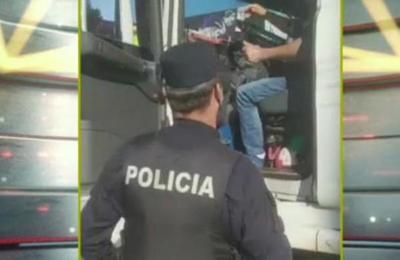 Ciudad del Este: Obstaculizaba el tránsito y lo detuvieron