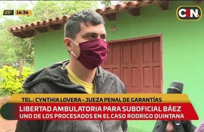 Caso Rodrigo Quintana: Libertad ambulatoria para el suboficial Báez