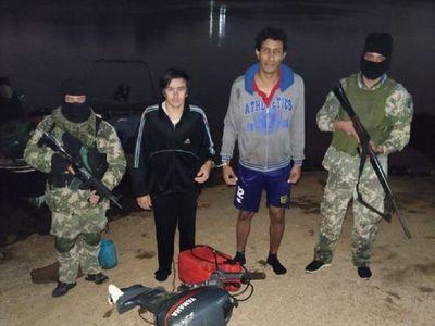 Dos detenidos por ingresar de forma ilegal al país por el río Paraná