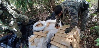 Incautan 500 kilos de marihuana en Amambay