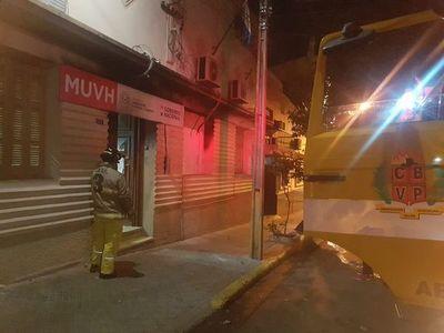 Alarma de incendio en Ministerio de Urbanismo