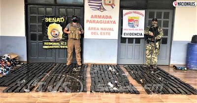 Incautan más de 300 kilos de marihuana durante patrullas fluviales en Alto Paraná