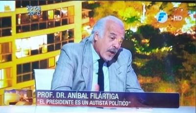 """Dr. Filártiga utiliza la palabra """"autista"""" para agredir políticamente y causa indignación"""