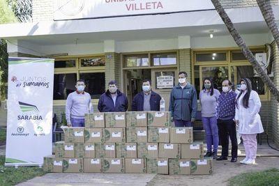 Grupo Sarabia distribuye mil litros más de alcohol en gel en Central