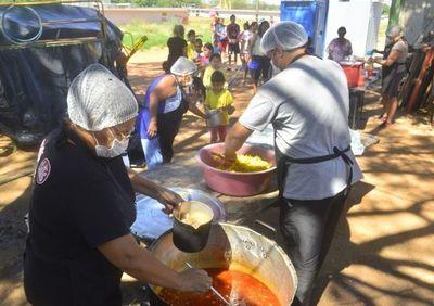 Campaña de recolección de alimentos de la Pastoral Social para sostener ollas populares