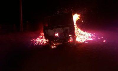 Camión se incendia en Itakyry