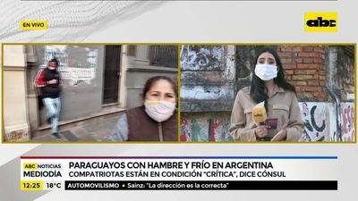 Paraguayos, con hambre y frío en Argentina