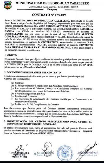 INTENDENTE JOSE CARLOS ACLARA DUDAS SOBRE OBRA EN LA MATADERIA DE PJC
