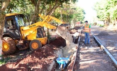Costanera CDE: Avanzan trabajos de iluminación subterránea y desagüe