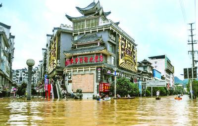 China afronta una de las peores inundaciones en más de 50 años