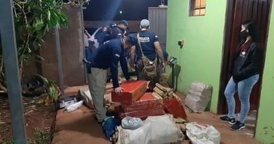 Incautan una tonelada de marihuana y desmantelan laboratorio clandestino en Pedro Juan