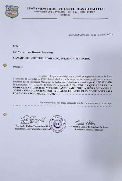 Intendente Acevedo finge apoyo a comerciantes luego veta ordenanza que exonera tasa de interés de Impuestos Municipales
