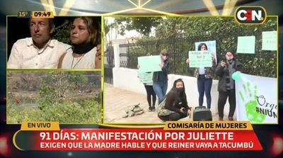 Manifestantes exigen que madre y padrastro de Juliette sean remitidos a la cárcel
