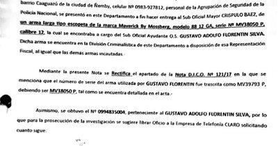 Acusación a suboficial no incluye informe de los objetos plantados