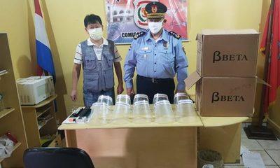 Donan protectores faciales a policías
