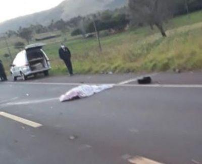 Motociclista muere arrollado por un camión en Pedro Juan Caballero
